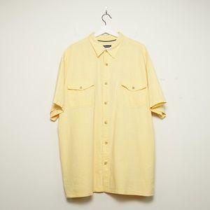 St. John's Bay Men's Soft Yellow Button Down Shirt